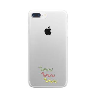 へびさん Clear smartphone cases