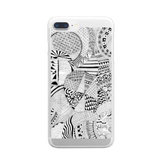 ぜんたんぐる Clear smartphone cases