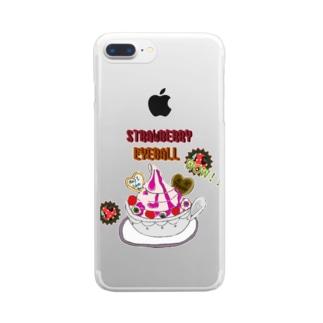 STRAWBERRY EYEBALL クリアスマートフォンケース
