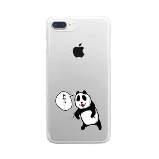 ドヤ顔パンダ Clear smartphone cases
