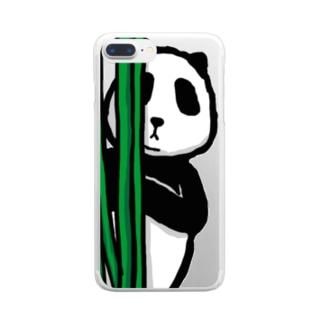 覗き見パンダ Clear smartphone cases