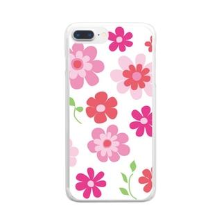 花の集い Clear smartphone cases