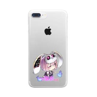 ʚ一ノ瀬 彩 公式 ストアɞの一ノ瀬彩ちびキャラ:LOGO付【ニコイズム様Design】 Clear smartphone cases