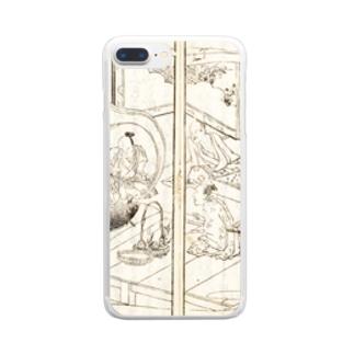 夢応の鯉魚(裏写り低減版)L Clear smartphone cases