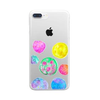 惑星ごろごろ Clear smartphone cases