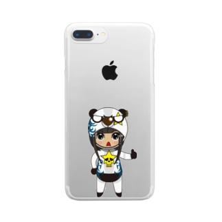 ちびキャラ/FUNKYTYPE【一ノ瀬彩】 Clear smartphone cases