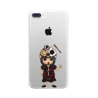 ちびキャラ/HORRORTYPE【一ノ瀬彩】 Clear smartphone cases