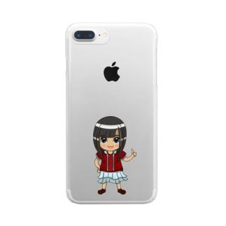 ちびキャラ/NORMALTYPE【一ノ瀬彩】 Clear smartphone cases
