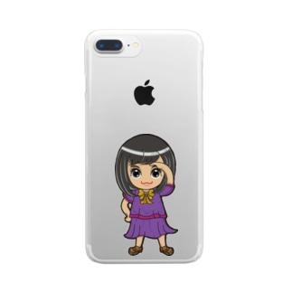 ちびキャラ/SCHOOLTYPE:紫【一ノ瀬彩】 Clear smartphone cases
