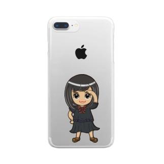ちびキャラ/SCHOOLTYPE:黒【一ノ瀬彩】 Clear smartphone cases