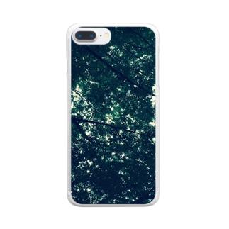 木陰で一休み Clear smartphone cases