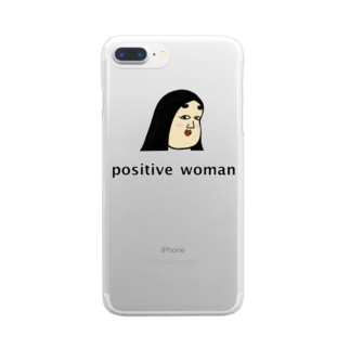 positive woman 式部 Clear smartphone cases