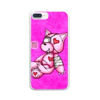 """❀花狐庵❀ """"Heart♡Wolf!!"""" Clear smartphone cases"""
