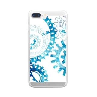 宇宙歯車 Clear smartphone cases