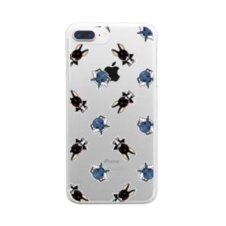 天使犬&悪魔犬 Clear smartphone cases