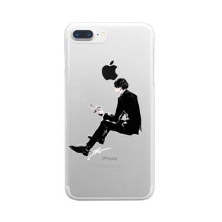Lovehim/BW クリアスマートフォンケース