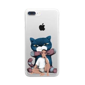 視覚を奪う猫 クリアスマートフォンケース