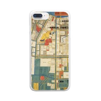 本所深川絵図 Clear smartphone cases