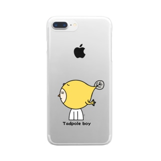 tadpole boy Clear smartphone cases