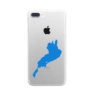 琵琶湖 Clear smartphone cases