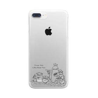 ちいさいねこ Coffee! Clear smartphone cases
