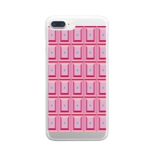 💗ヴァカ・ヴァレンタイン💗 Clear smartphone cases
