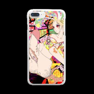 放蕩娘の売店の花魁少年 Clear smartphone cases