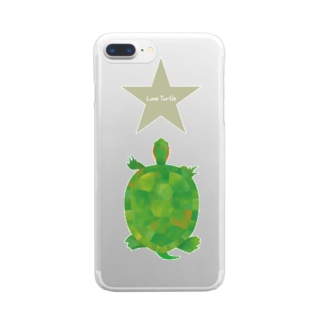 Love Turtle Star Clear smartphone cases
