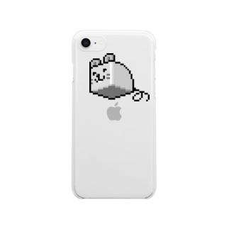 はこねずみ(ドット) Clear smartphone cases