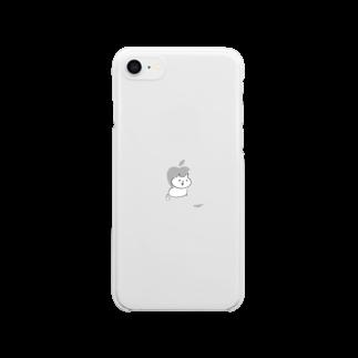 さかがわ成美のくちばしねこ Clear smartphone cases