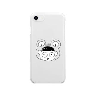 カエルにんげん Clear smartphone cases