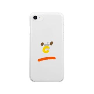 鼻がCのひと Clear smartphone cases
