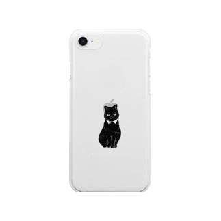 黒猫 Clear smartphone cases