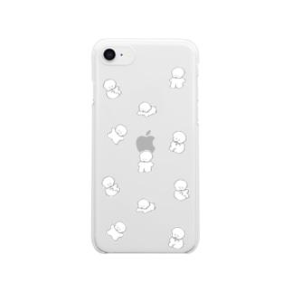 ワヌワヌワヌ Clear smartphone cases
