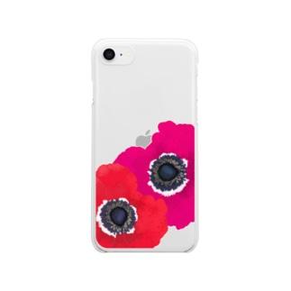 アネモネ Clear smartphone cases
