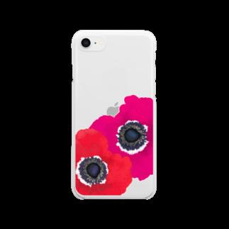 ヤマノナガメのアネモネ Clear smartphone cases