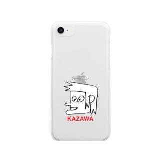かざわひで Clear smartphone cases