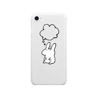 りんごたべたいうさぎ iPhone8,7用 クリアスマートフォンケース