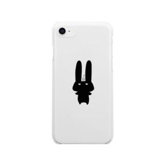 バランスをとるうさぎ iPhone8,7用 クリアスマートフォンケース