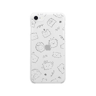おぼけちゃんケース Clear smartphone cases