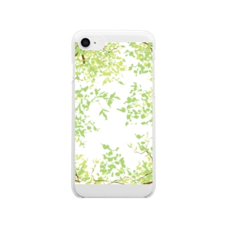 tree 夏 Clear smartphone cases