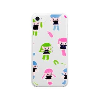 持ってない Clear smartphone cases