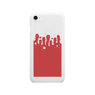 溺水〜血の海〜 Clear smartphone cases