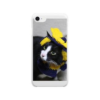 兜被った太郎さん Clear smartphone cases