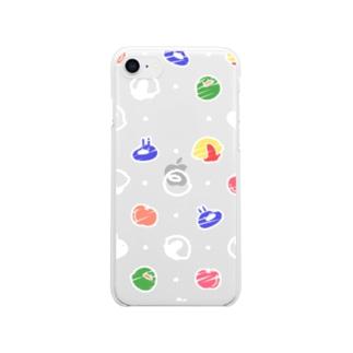 透けてるうさぎの好きなもの(白)~7・8~ Clear smartphone cases