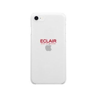 ECLAIR ロゴ Clear smartphone cases