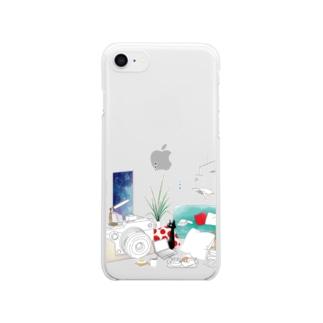 ちるとしふと/裏表紙 Clear smartphone cases