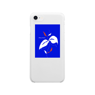 2wins_yuriyuriのStay here (iphone7/8)の方 Clear smartphone cases