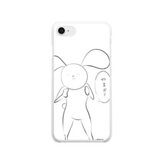 いきりうさぎ Clear smartphone cases