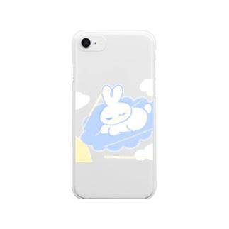 日光浴うさ Clear smartphone cases